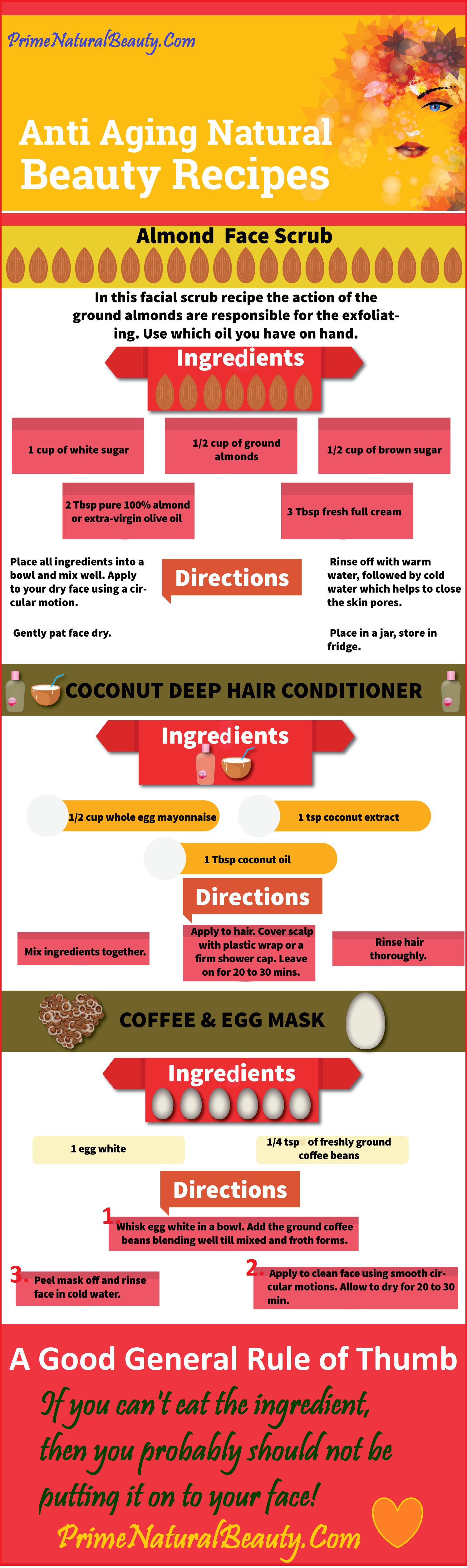 Anti Aging Natural Beauty Recipes INFOGRAGHIC