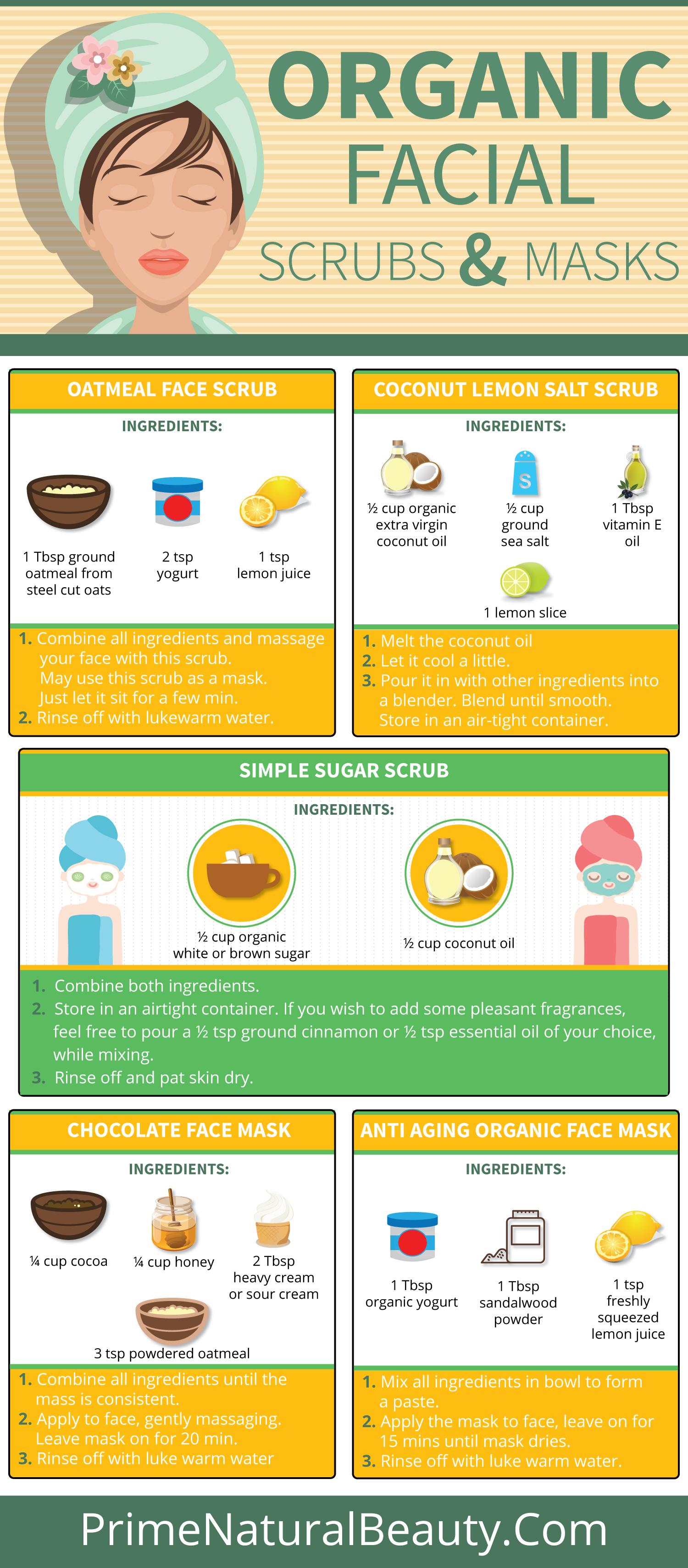 Organic Facial Scrub and Mask Recipes