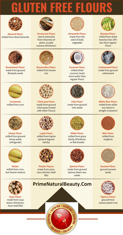 Gluten Free Flours List - Infographic